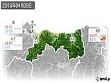 2016年04月09日の鳥取県の実況天気