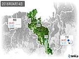 2016年04月14日の京都府の実況天気