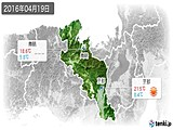 2016年04月19日の京都府の実況天気