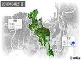 2016年04月21日の京都府の実況天気