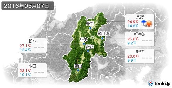 長野県(2016年05月07日の天気