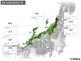 2016年05月21日の北陸地方の実況天気
