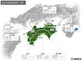 2016年06月11日の四国地方の実況天気