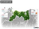 2016年06月14日の鳥取県の実況天気