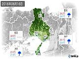 2016年06月16日の兵庫県の実況天気