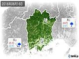 2016年06月16日の岡山県の実況天気