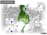 2016年06月19日の兵庫県の実況天気