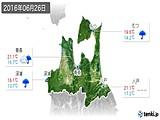 2016年06月26日の青森県の実況天気