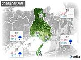 2016年06月29日の兵庫県の実況天気