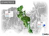 2016年07月31日の京都府の実況天気