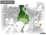 2016年07月31日の兵庫県の実況天気