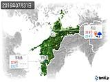 2016年07月31日の愛媛県の実況天気