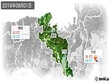 2016年08月01日の京都府の実況天気
