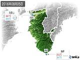 2016年08月05日の和歌山県の実況天気