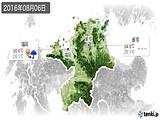 2016年08月06日の福岡県の実況天気
