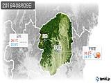2016年08月09日の栃木県の実況天気