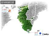 2016年08月15日の和歌山県の実況天気