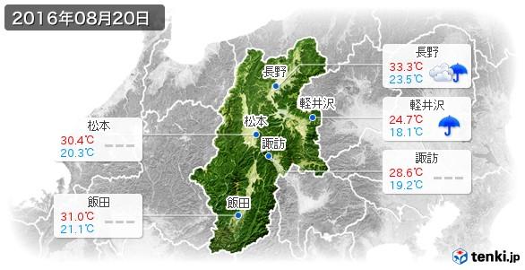 長野県(2016年08月20日の天気