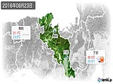 2016年08月23日の京都府の実況天気