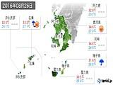 2016年08月26日の鹿児島県の実況天気
