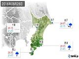 2016年08月28日の千葉県の実況天気