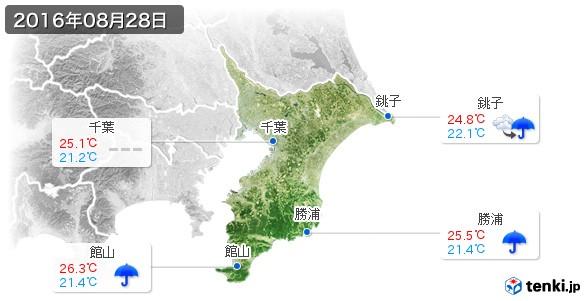 千葉県(2016年08月28日の天気