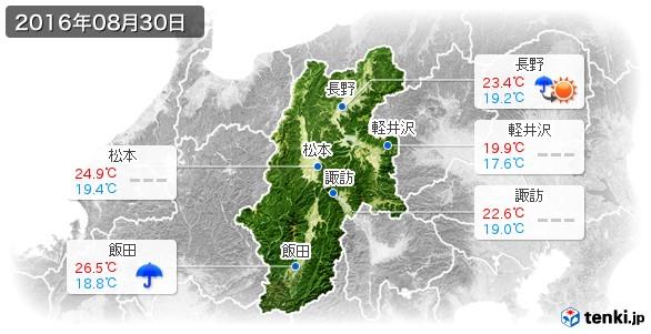 長野県(2016年08月30日の天気