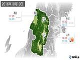 2016年10月10日の山形県の実況天気