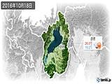 2016年10月18日の滋賀県の実況天気