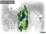 2016年12月09日の滋賀県の実況天気