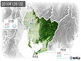2016年12月12日の愛知県の実況天気