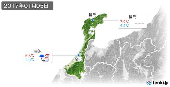 石川県(2017年01月05日の天気