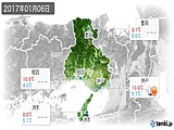 2017年01月06日の兵庫県の実況天気