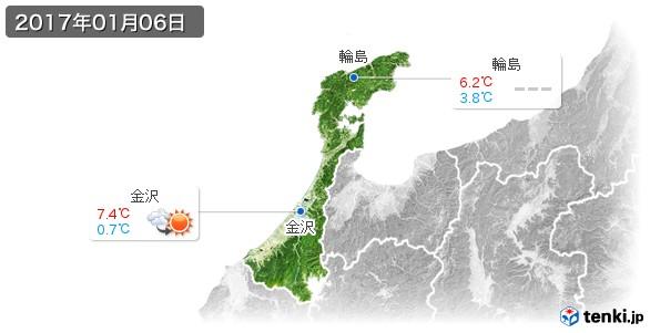 石川県(2017年01月06日の天気