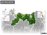 2017年01月07日の鳥取県の実況天気
