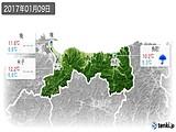 2017年01月09日の鳥取県の実況天気