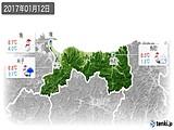 2017年01月12日の鳥取県の実況天気