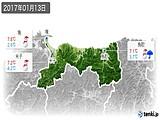 2017年01月13日の鳥取県の実況天気