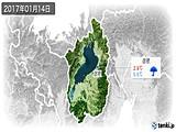 2017年01月14日の滋賀県の実況天気