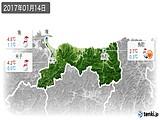2017年01月14日の鳥取県の実況天気