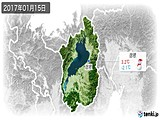 2017年01月15日の滋賀県の実況天気