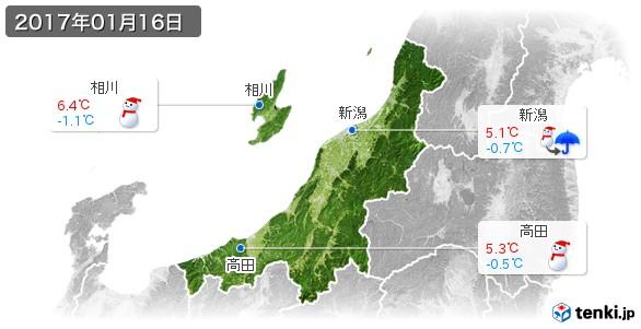 新潟県(2017年01月16日の天気
