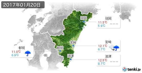 宮崎県(2017年01月20日の天気