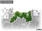 2017年01月22日の鳥取県の実況天気