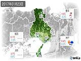 2017年01月23日の兵庫県の実況天気