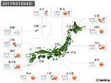 実況天気(2017年01月24日)