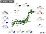 2017年01月29日の実況天気