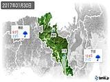2017年01月30日の京都府の実況天気
