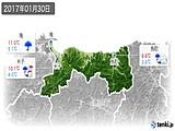 2017年01月30日の鳥取県の実況天気