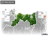 2017年01月31日の鳥取県の実況天気